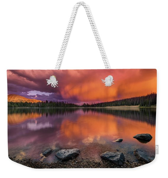 Mirror Lake Sunet Weekender Tote Bag