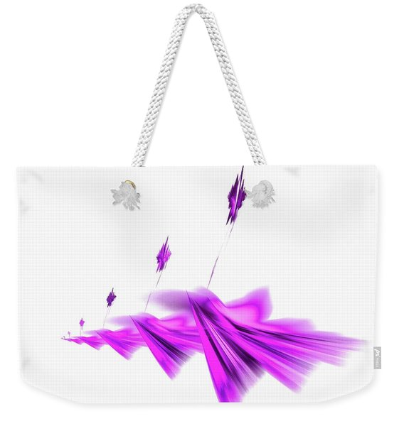 Missile Command Purple Weekender Tote Bag