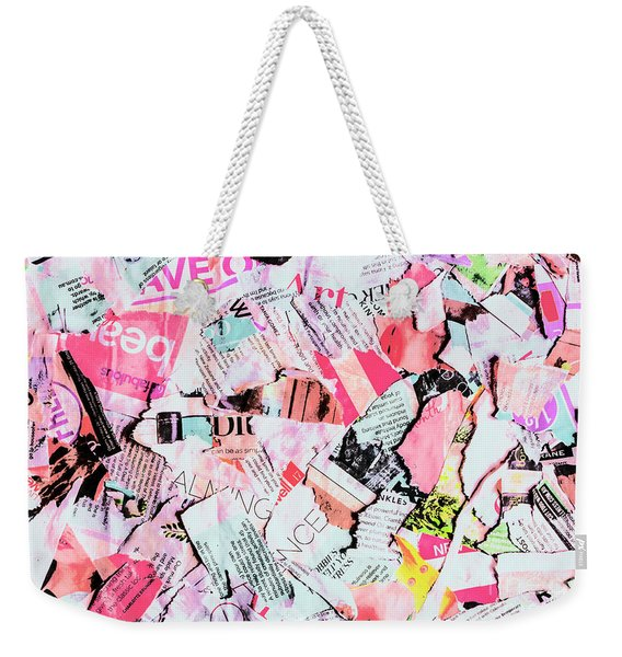 Mixed Media Messages Weekender Tote Bag