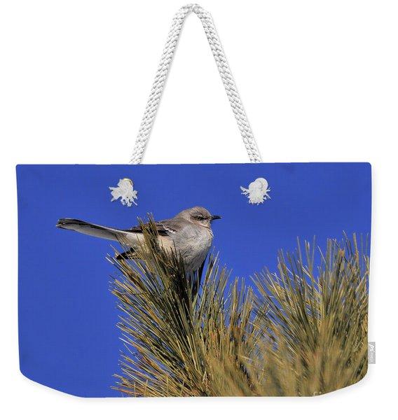 Mockingbird In White Pine Weekender Tote Bag