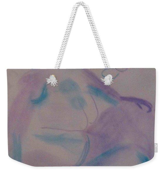model named Helene Weekender Tote Bag