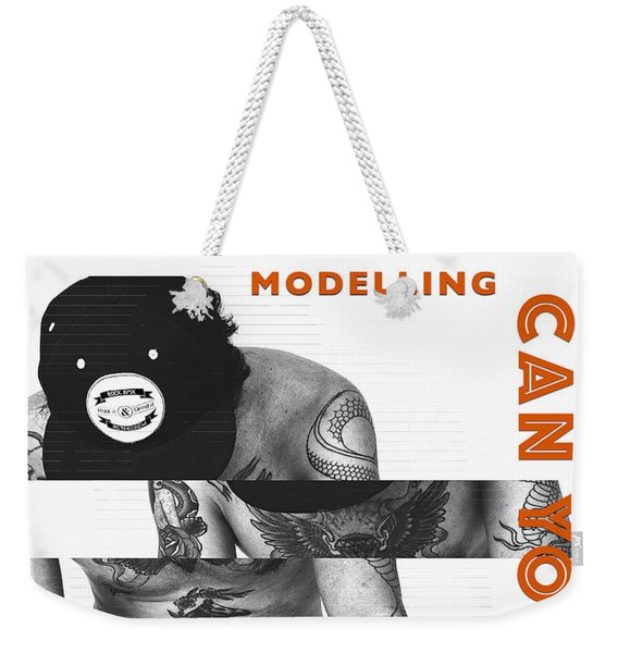 Modelling Can You Cut It? Weekender Tote Bag