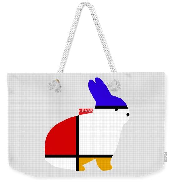 Modern White Weekender Tote Bag