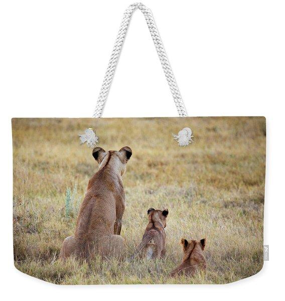 Mom And Cubs Weekender Tote Bag