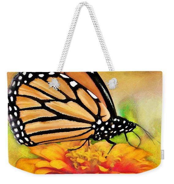 Monarch Butterfly On Flower Weekender Tote Bag