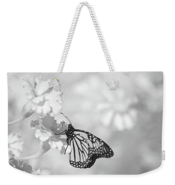 Weekender Tote Bag featuring the photograph Monarch In Infrared by Brian Hale