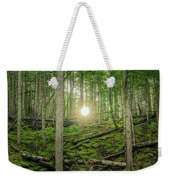 Monashee Forest Sunset Weekender Tote Bag