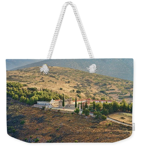 Monastery Agion Anargiron Above Argos Weekender Tote Bag