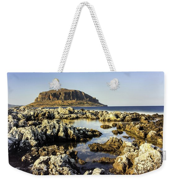 Monemvasia Rock Weekender Tote Bag