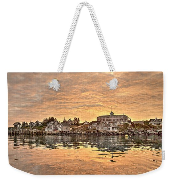 Monhegan Sunrise - Harbor View Weekender Tote Bag