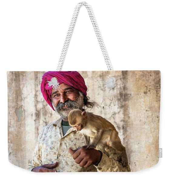 Monkey Temple Weekender Tote Bag