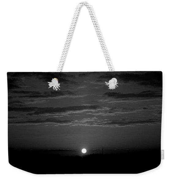 Monochrome Sunrise Weekender Tote Bag