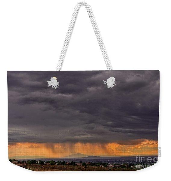 Monsoon Over The Volcanoes Weekender Tote Bag