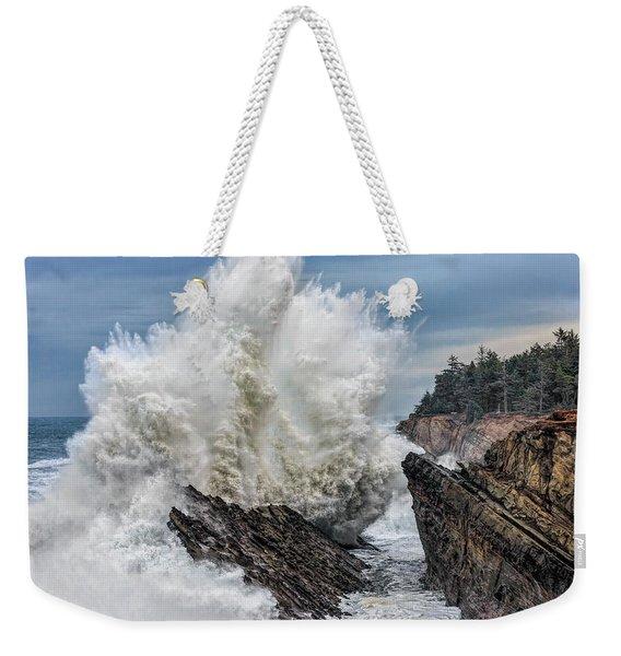 Monster Wave Weekender Tote Bag