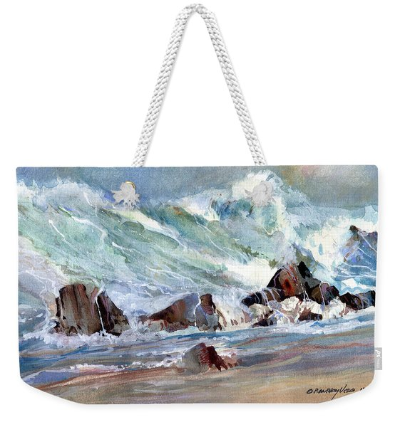 Monster Waves Weekender Tote Bag