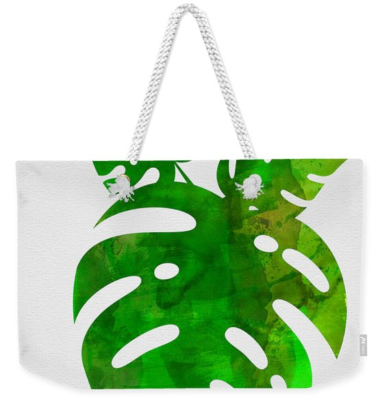 Monstera Leafs Weekender Tote Bag