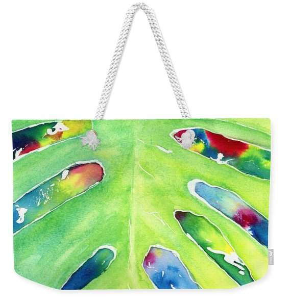 Monstera Tropical Leaves 2 Weekender Tote Bag