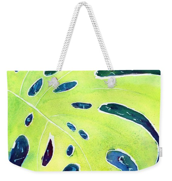 Monstera Tropical Leaves 3 Weekender Tote Bag