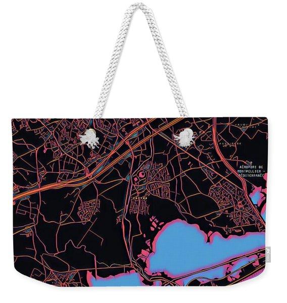 Montpellier City Map Weekender Tote Bag