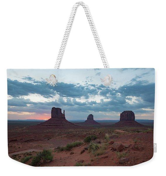 Monument Valley Before Sunrise Weekender Tote Bag