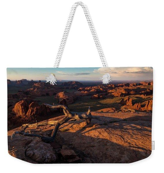 Monument Valley From Hunts Mesa Weekender Tote Bag
