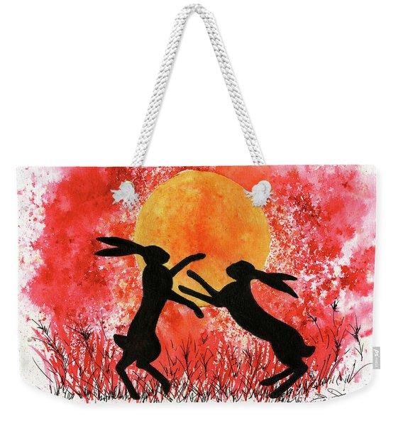 Moon Hares Weekender Tote Bag
