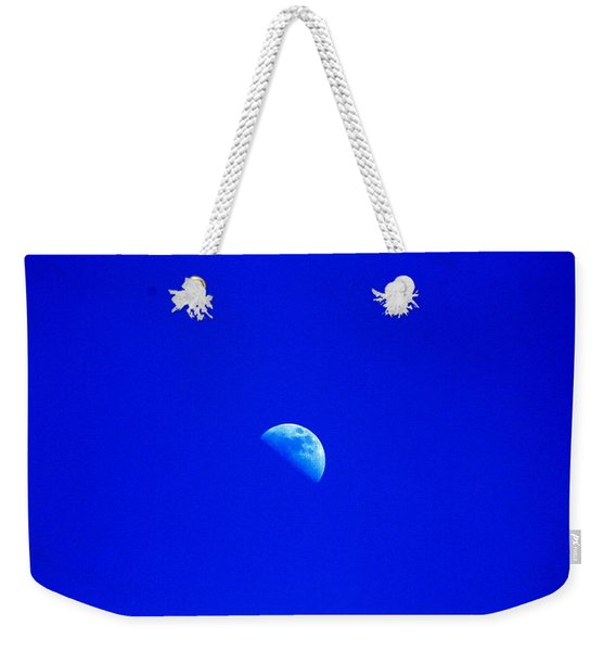 Moon In A Daytime Sky Weekender Tote Bag