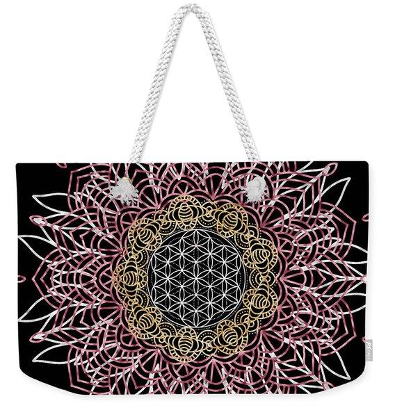 Moon Mandala Weekender Tote Bag