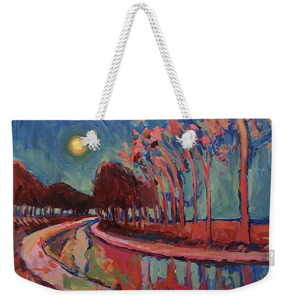 Moon Night At The Canal Weekender Tote Bag