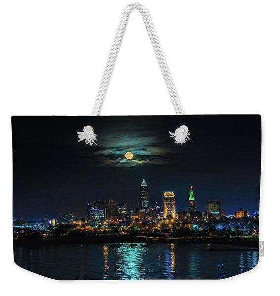 Moon Over Cleveland  Weekender Tote Bag