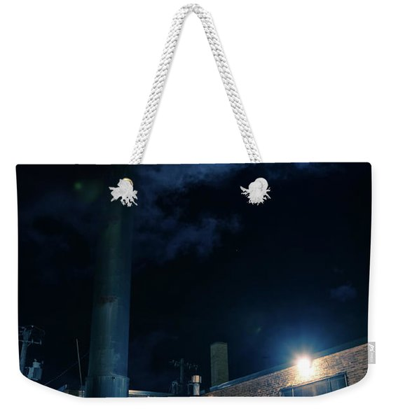 Moon Over Industrial Chicago Alley Weekender Tote Bag
