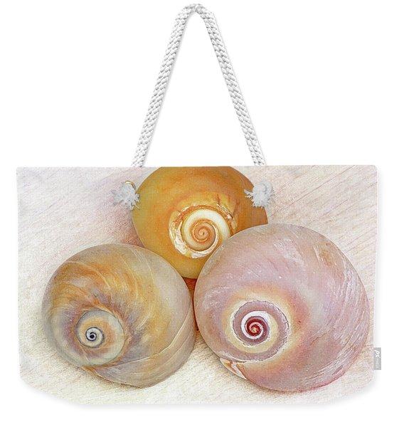 Moon Snail Trio Weekender Tote Bag
