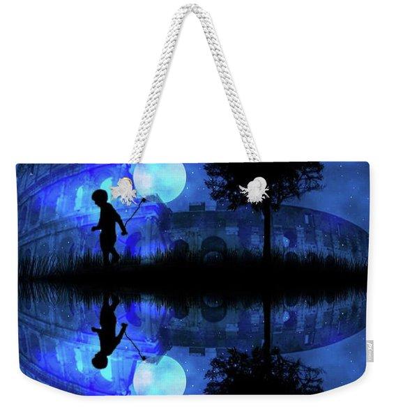 Moonlight Colosseum Weekender Tote Bag