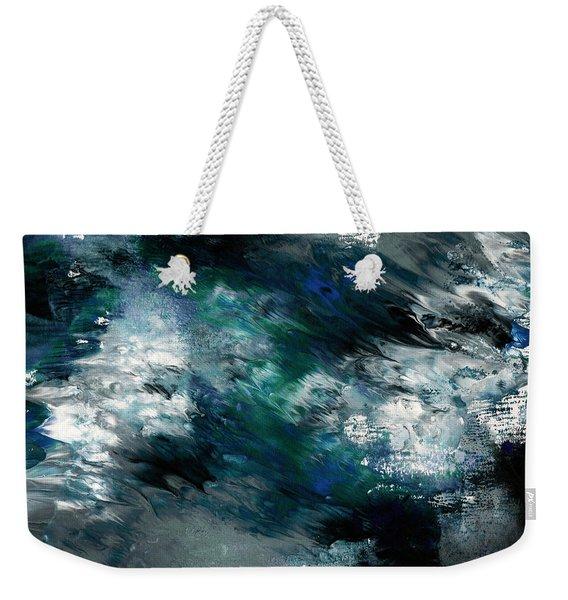 Moonlight Ocean- Abstract Art By Linda Woods Weekender Tote Bag