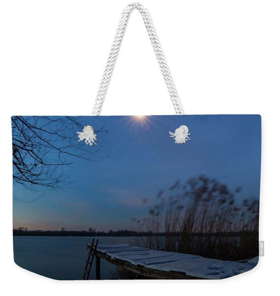 Moonlight Over The Lake Weekender Tote Bag