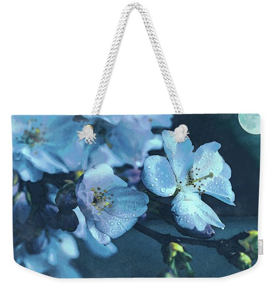 Moonlit Night In The Blooming Garden Weekender Tote Bag