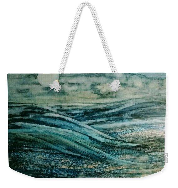 Moonlit Storm Weekender Tote Bag