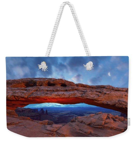 Moonrise Over Mesa Arch Weekender Tote Bag