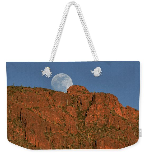 Moonrise Over The Tucson Mountains Weekender Tote Bag
