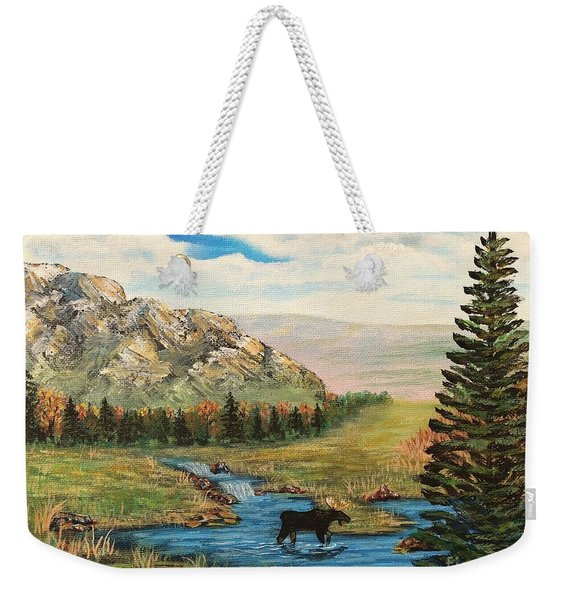 Moose In The Rut Weekender Tote Bag