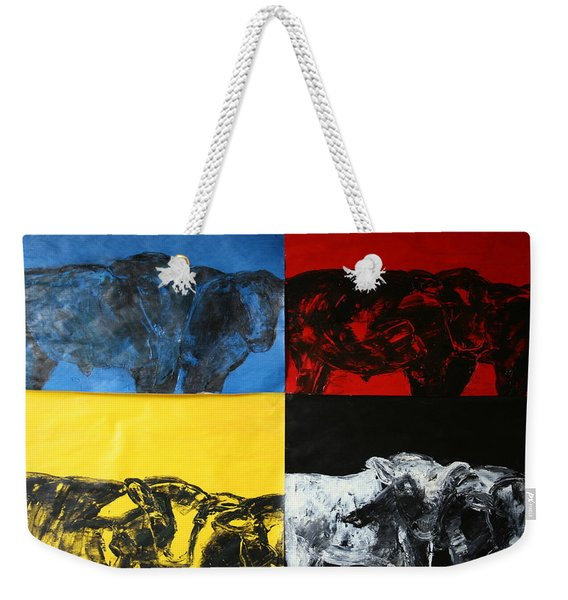 Mooving Out Of Our Land Weekender Tote Bag