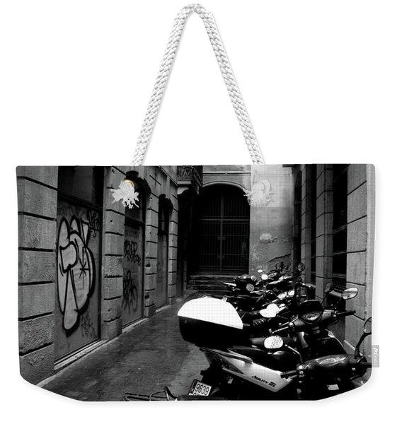 Moped Weekender Tote Bag