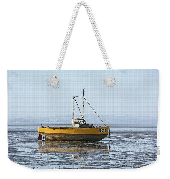 Morecambe. Yellow Fishing Boat. Weekender Tote Bag