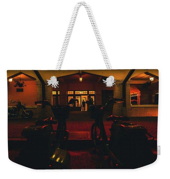 Morning Call Weekender Tote Bag