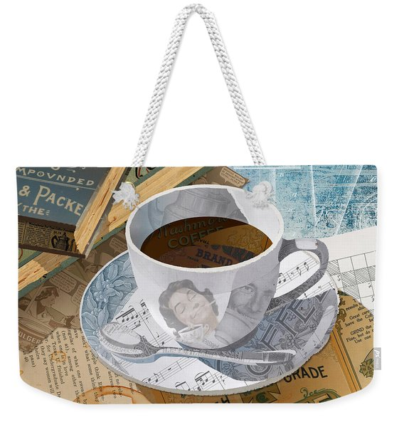 Weekender Tote Bag featuring the mixed media Morning Coffee by Clint Hansen
