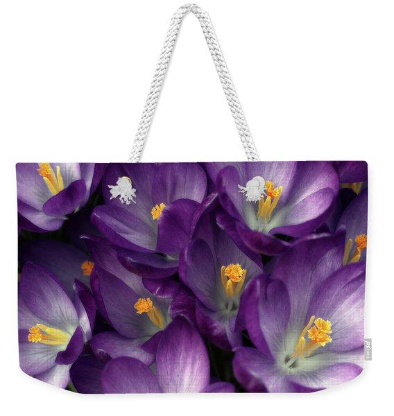 Morning Crocus Weekender Tote Bag