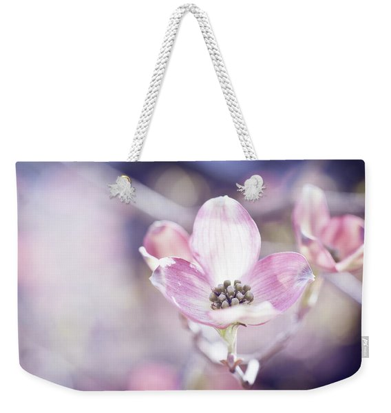 Weekender Tote Bag featuring the photograph Morning Dogwood by Michelle Wermuth