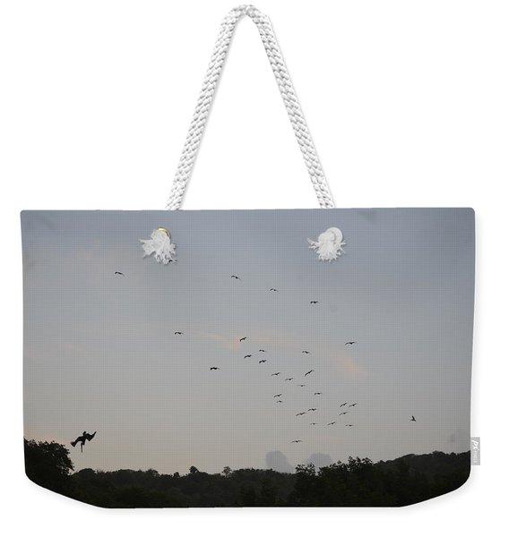Morning Flock Rise Weekender Tote Bag