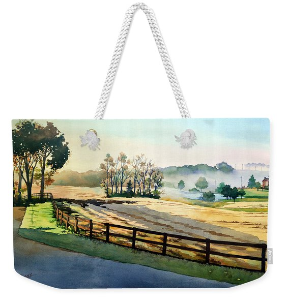 Morning Fog Rolls Away Weekender Tote Bag