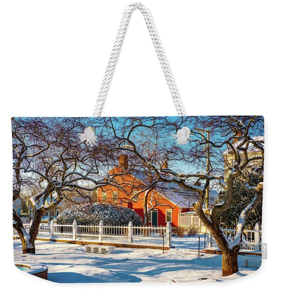 Weekender Tote Bag featuring the photograph Morning Light, Winter Garden. by Jeff Sinon